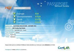 Exemple de passeport Bâtiment durable