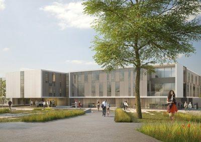 Conseil environnemental et maîtrise d'œuvre paysage pour la reconstruction de l'hôpital de la Corniche Angevine