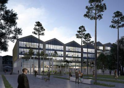 Conseil en Certification HQE et BREEAM pour la construction du siège social Crédit Agricole Aquitaine à Bordeaux