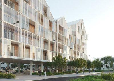 Conseil en certification NF Habitat HQE pour la construction de 60 logements Terre Sud à Bègles