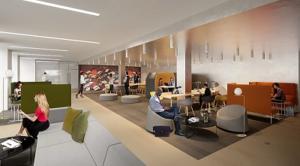 Cap Terre a accompagné HSBC dans le cadre de la restructuration de son immeuble de bureaux (HQE, BREEAM) - @BouchaudArchitectes