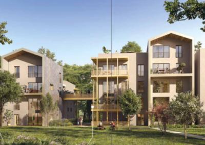 Réalisation de 4 bâtiments de logements collectifs dans le Parc Princesse au Vésinet (78)